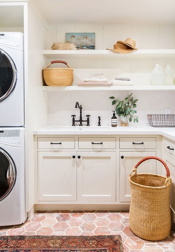 Modern Farmhouse Laundry Room Inspiration