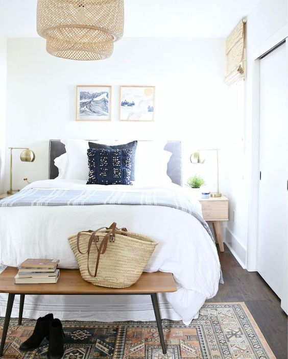 Blue Bedroom Decorating Ideas and Inspiration + Tips for Decorating Above a Bed Headboard #remodelaholic