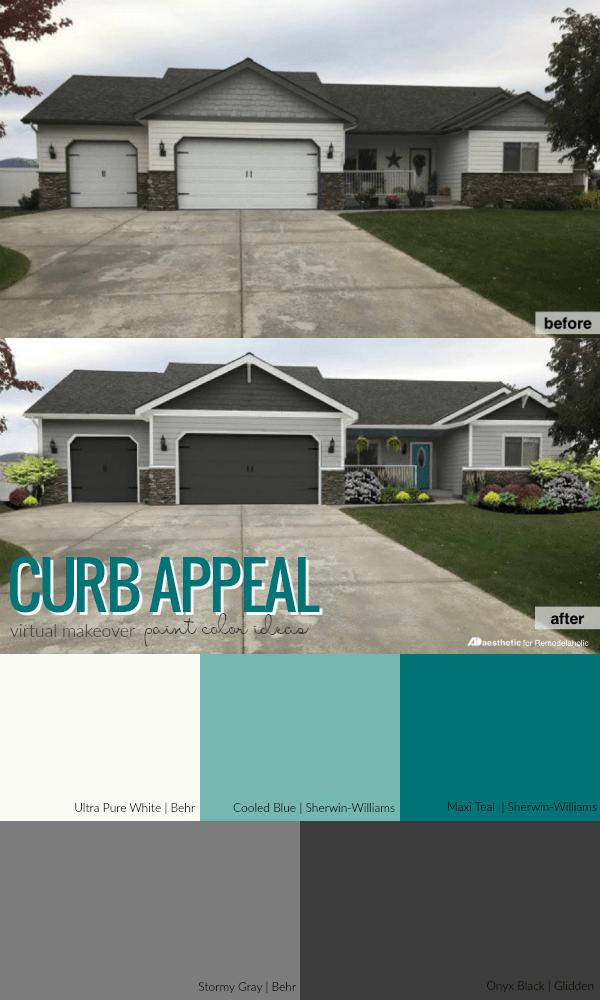 Remodelaholic | Real Life Rooms: Garage Door Curb Appeal ... on Garage Door Color Ideas  id=26860