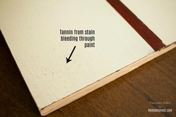 Red Brown Tannin Bleed Through White Paint Fix WM 3000