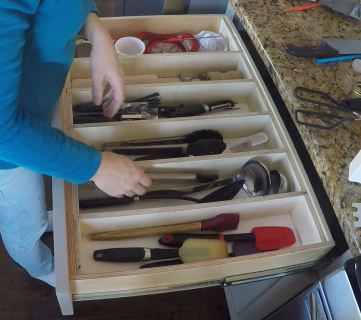 Custom DIY Adjustable Drawer Organizer for Utensils and More