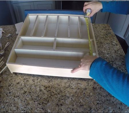 Remodelaholic Removable Utensil Drawer Organizer Step 11