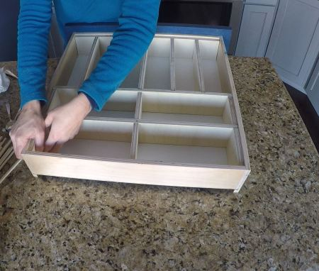 Remodelaholic Removable Utensil Drawer Organizer Step 12