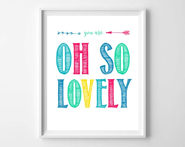 You Are Lovely Frame