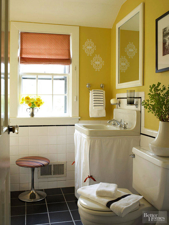 Remodelaholic Color Files BHG Yellow Bathroom