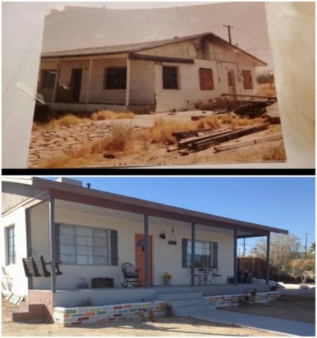 Bridget, Desert Homestead Renovation Exterior Before And After