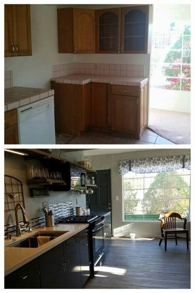 Bridget, Desert Homestead Renovation Kitchen Before And After