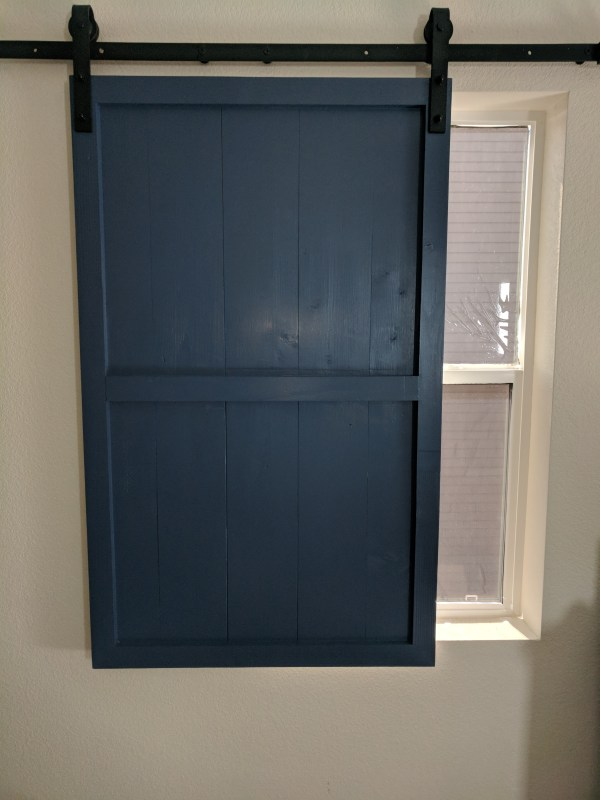 Denise Window Covering Barn Doors Single