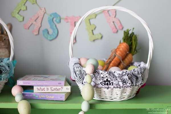 Diy Bandana Easter Basket Liner, The Heathered Nest