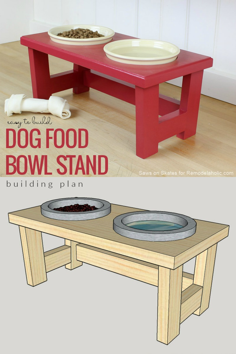 Terrific Remodelaholic Diy Dog Food Bowl Stand For Small Pups Andrewgaddart Wooden Chair Designs For Living Room Andrewgaddartcom