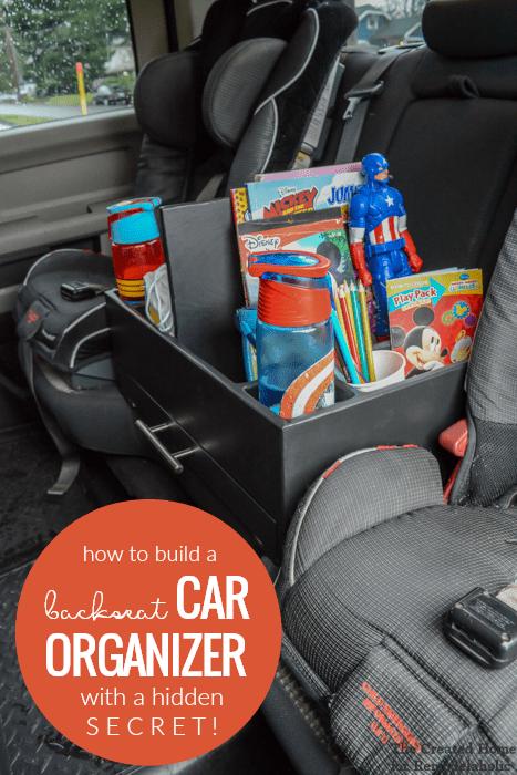 Remodelaholic | DIY Backseat Car Organizer for Kids