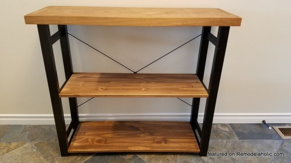 Rustic Modern IKEA Hack Bookshelf, Final Shelf