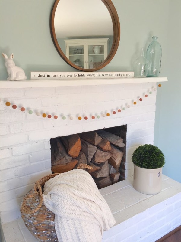 Spring Mantel, A Nod To Navy