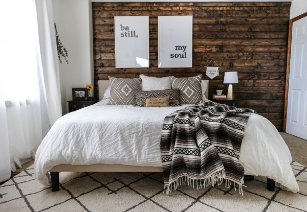 Wood Plank Accent Wall, Joyfully Growing