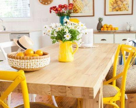 Coastal Yellow Kitchen via Australian Country Magazine | Yellow Kitchen Inspiration #Remodelaholic