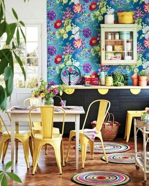 Colorful yellow kitchen ideas via Hus & Hem | Yellow Kitchen Inspiration #Remodelaholic