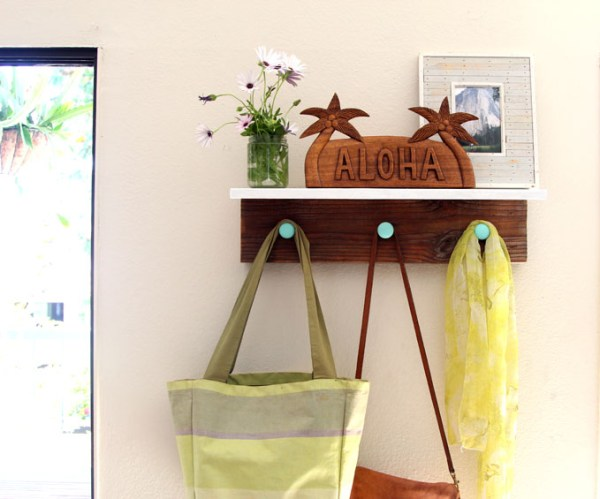 DIY Wood Wall Hanging Shelf ApieceofRainbowblog (14)