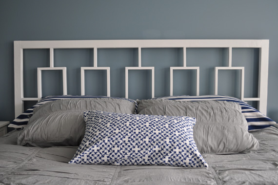 DIY Window Headboard West Elm Knockoff By Decor And The Dog Featured On @ & Remodelaholic   West Elmu0027s Window Headboard Knock Off Tutorial
