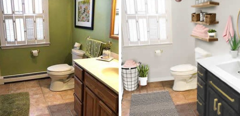 Real Life Rooms: A Simple and Cost Effective Bathroom Update