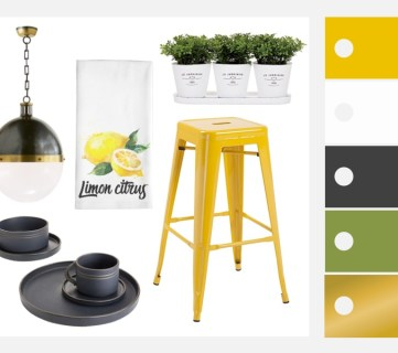 Sunny Yellow Kitchen Decorating Inspiration