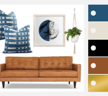 Incorporating Indigo Mudcloth in Living Room Decor