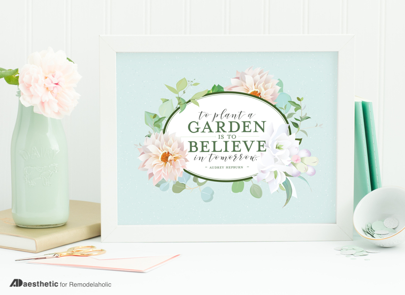 Remodelaholic | Free Floral Printable Quote: To Plant a ...