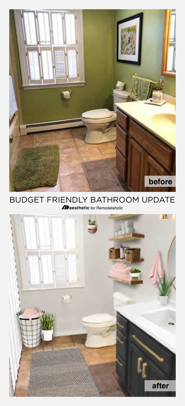 Merveilleux Real Life Rooms: Budget Friendly Bathroom Update | How To Update A Bathroom  On A