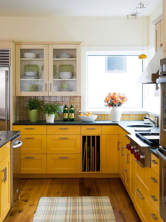 Remodelaholic | Sunny Yellow Kitchen Decorating Inspiration