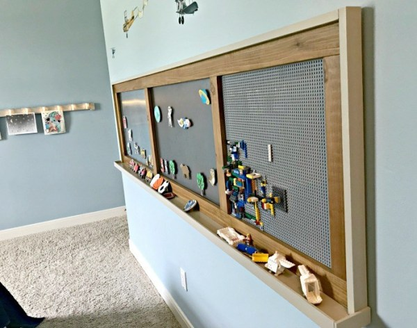 Lego And Magnet Board In A Boys Room, Abbotts At Home