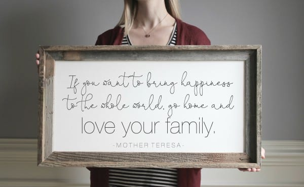 Mother Theresa Quote In Reclaimed Wood Frame, Etsy, Emmaandthebean
