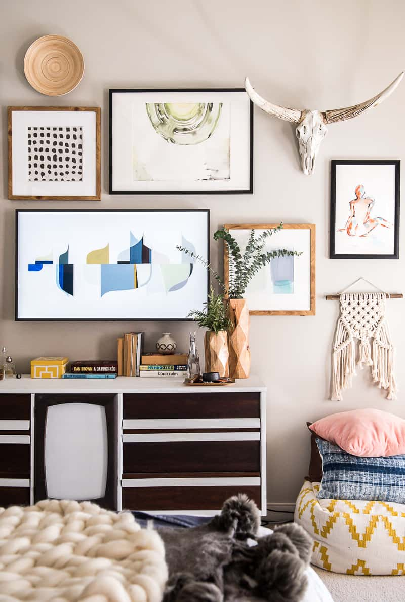 Remodelaholic Easy Gallery Wall Ideas Tips For Hanging