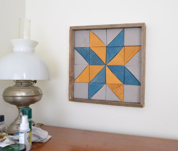 Wood Quilt Star Tray Wall Hanging, Create And Babble