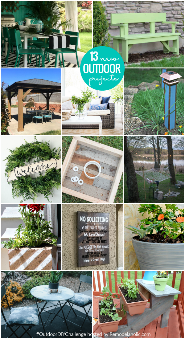 Get your yard summer-ready with these detailed outdoor DIY tutorials and projects. From the patio to the front porch to the garden, these ideas will make your home exterior and yard amazing! #remodelaholic