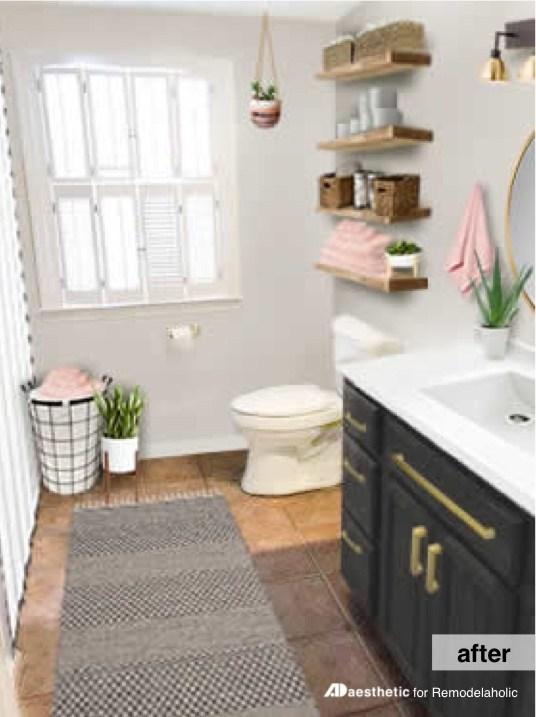 Postbox Designs: My $950 Budget Bathroom, Image: ADaesthetic