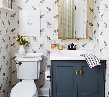 Get This Look: Neutral Modern Farmhouse Bathroom