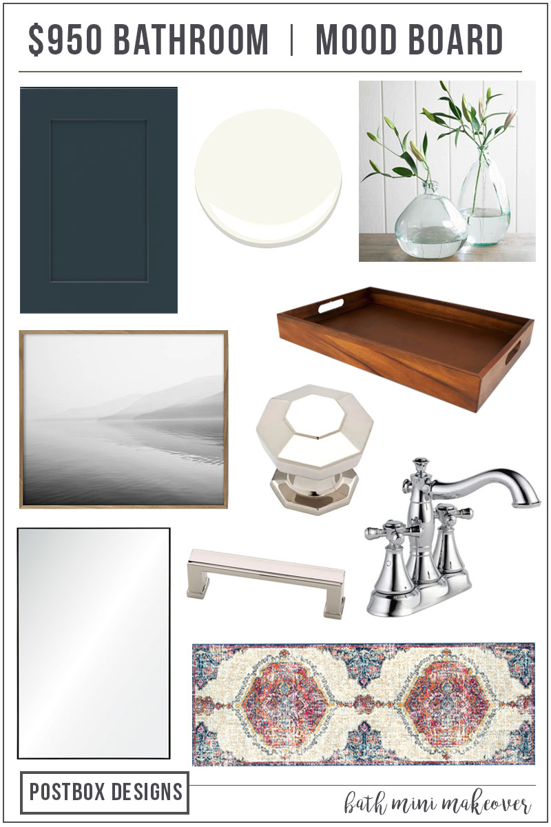 A budget-friendly bathroom makeover with a modern boho style | Product sources, paint colors, and decor tips #remodelaholic
