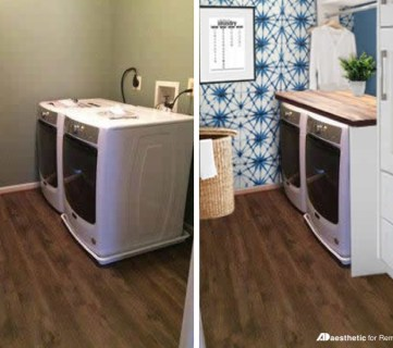 Real Life Rooms: Basic Laundry Room Makeover to Add Storage and Character