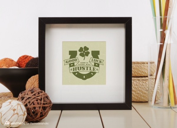 Free Printable Graphic Good Luck AD Aesthetic For Remodelaholic • Horizontal