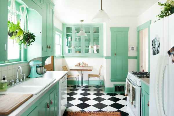 Decorating Kitchen with Jade Green