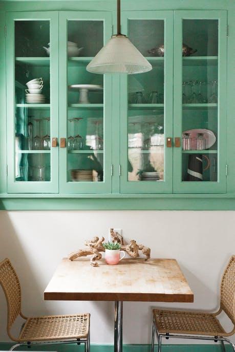 Remodelaholic Color Files Jade Green Kitchen 2