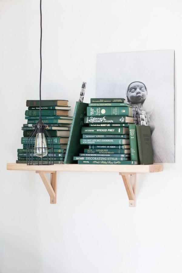 Remodelaholic Color Files Jade Green Bookshelf 1