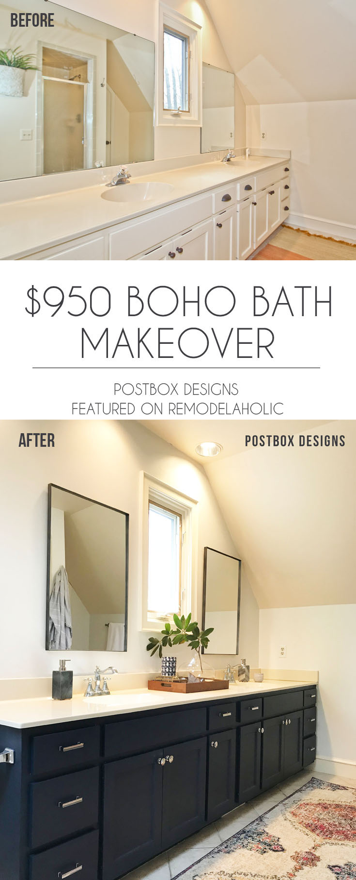 Remodelaholic | $950 Budget Bathroom Makeover: How I Updated My ...