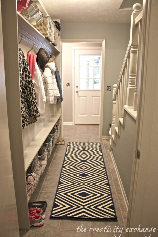 Tutorial For Framing A Narrow Hallway Built In Mudroom The Creativity Exchange 682x1024