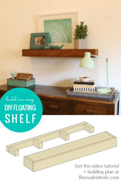 How To Build An Easy Diy Floating Shelf Tutorial And Building Plan #remodelaholic
