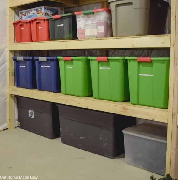 Ourhomemadeeasy Diy Storage Shelving