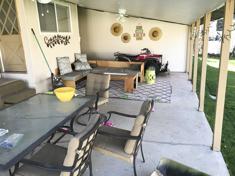 Painting A Patio With UGL Epoxy Floor Paint @Remodelaholic 13