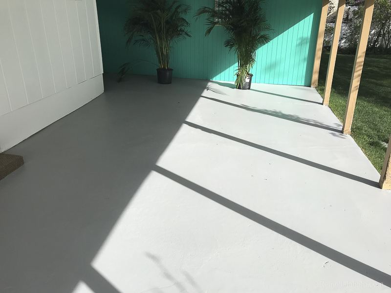 Painting A Patio With UGL Epoxy Floor Paint @Remodelaholic 30