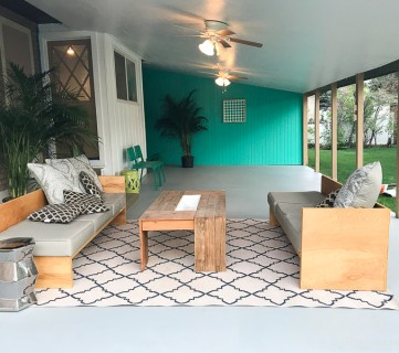 Painting A Patio With UGL Epoxy Floor Paint @Remodelaholic 31