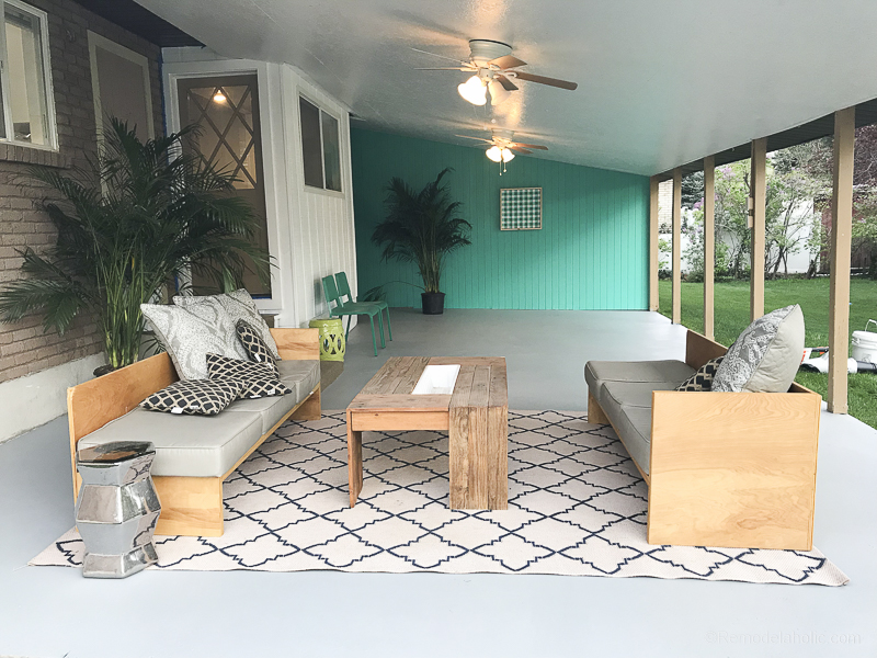 to paint a concrete patio with tutorial