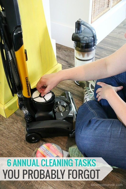 6 Annual Cleaning Tasks You Probably Forgot | Make Your Home Cleaner and Healthier with easy online ordering for vacuum maintenance parts #filtrete #remodelaholic